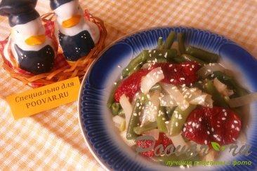 Фасоль стручковая с луком и вялеными помидорами Шаг 7 (картинка)