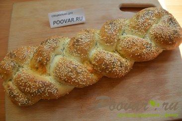 Хлебная коса с начинкой Шаг 17 (картинка)