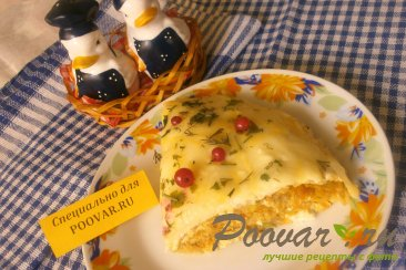 Пирог из вафельных коржей с капустой Шаг 15 (картинка)