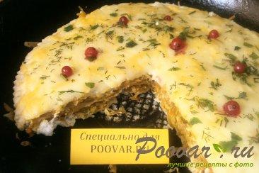 Пирог из вафельных коржей с капустой Шаг 14 (картинка)