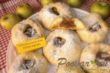 Постные шаньги с яблоками и цукатами Изображение