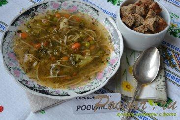 Постный суп из замороженных овощей Изображение