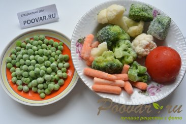 Постный суп из замороженных овощей Шаг 1 (картинка)