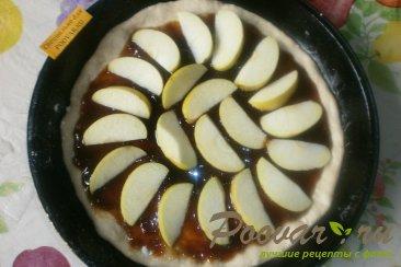 Постный пирог с яблоками и вареньем Шаг 4 (картинка)