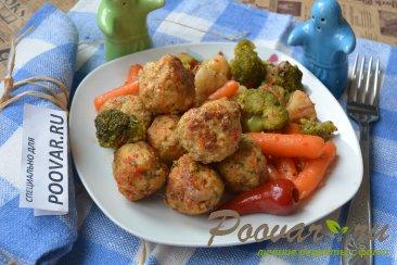 Фрикадельки с замороженными овощами Изображение