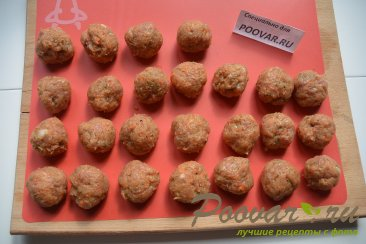 Фрикадельки с замороженными овощами Шаг 6 (картинка)