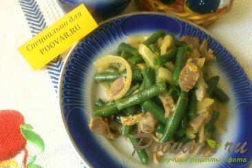 Фасоль с куриными желудками Изображение
