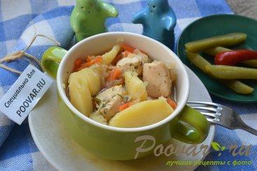 Картофель тушенный с курицей Изображение