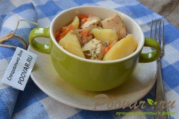 Картофель тушенный с курицей Шаг 13 (картинка)