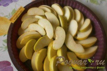 Постная шарлотка с яблоками Шаг 2 (картинка)