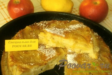 Постная шарлотка с яблоками Шаг 9 (картинка)