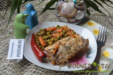 Жареная рыба на сковороде с замороженными овощами Шаг 8 (картинка)