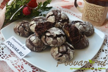 Треснутое шоколадное печенье - Crackied chocolate cookies Шаг 11 (картинка)