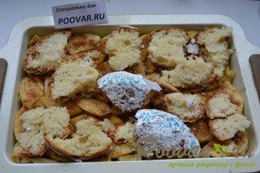 Шарлотка с яблоками из черствых куличей, сдобного хлеба Шаг 11 (картинка)