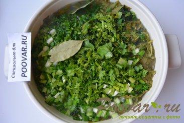 Зеленый борщ со щавелем и крапивой Шаг 10 (картинка)