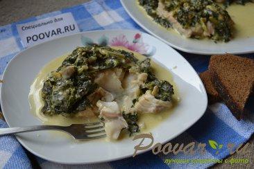 Рыба под шпинатом со сливками Изображение