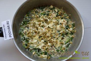 Рыба под шпинатом со сливками Шаг 10 (картинка)