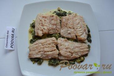 Рыба под шпинатом со сливками Шаг 12 (картинка)