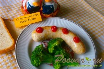 Куриные колбаски с брокколи Шаг 6 (картинка)