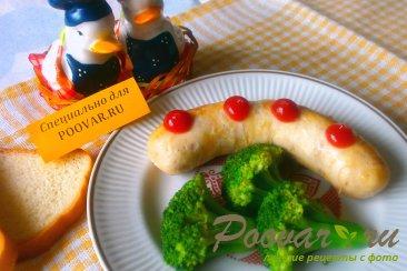 Куриные колбаски с брокколи Изображение