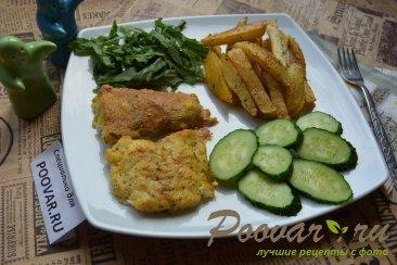 Треска в кляре с картофелем фри в духовке Шаг 9 (картинка)