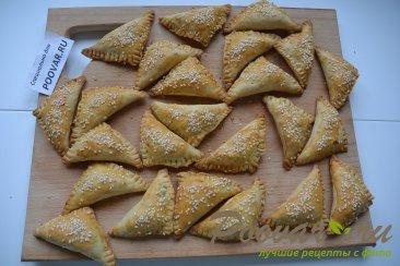 Пирожки с мясом в духовке из песочно-слоеного теста Шаг 15 (картинка)