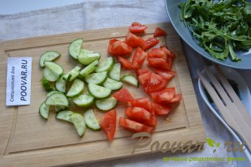 Овощной салат с сыром и яйцом Шаг 3 (картинка)