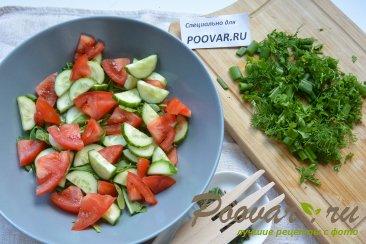Овощной салат с сыром и яйцом Шаг 4 (картинка)