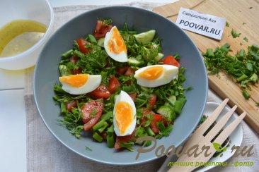 Овощной салат с сыром и яйцом Шаг 5 (картинка)