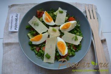 Овощной салат с сыром и яйцом Шаг 7 (картинка)
