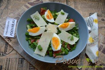 Овощной салат с сыром и яйцом Шаг 8 (картинка)