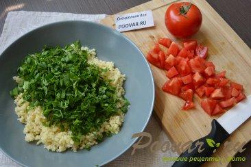 Салат из булгура с зеленью и помидорами (Табуле) Шаг 6 (картинка)