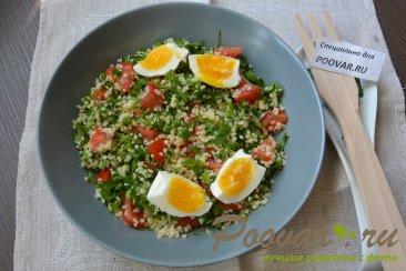 Салат из булгура с зеленью и помидорами (Табуле) Шаг 8 (картинка)