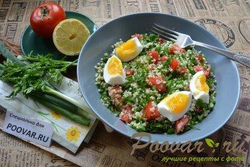 Салат из булгура с зеленью и помидорами (Табуле) Шаг 9 (картинка)