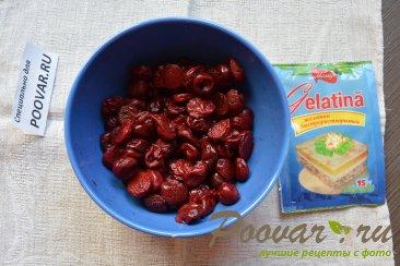 Сырник с шоколадным коржом и вишневым желе