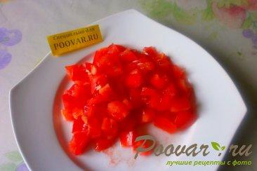 Салат из огурцов, помидоров и плавленого сыра Шаг 3 (картинка)