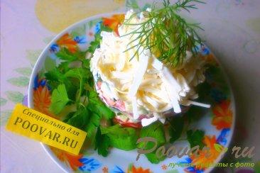 Салат из огурцов, помидоров и плавленого сыра Шаг 4 (картинка)