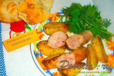 Домашняя колбаса с картофелем Изображение