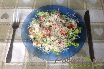 салат цезарь дома рецепт пошагово с фото