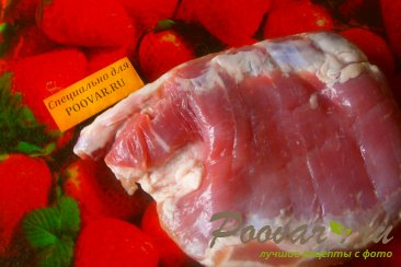 Грудинка свиная со смородиной Шаг 1 (картинка)
