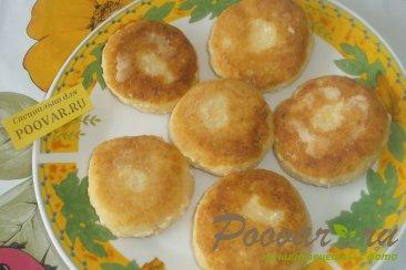 Сырники с белковым кремом и клубникой Шаг 8 (картинка)