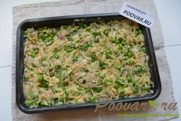 Запеканка из картофеля, фарша и зеленого горошка Шаг 6 (картинка)