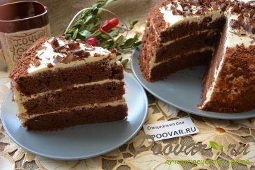 Шоколадный торт с мягким сливочным кремом Изображение