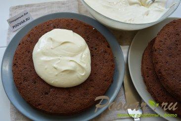 Шоколадный торт с мягким сливочным кремом Шаг 17 (картинка)