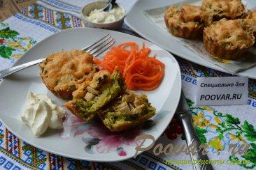 Корзиночки из кабачков с куриной начинкой Изображение