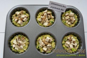 Корзиночки из кабачков с куриной начинкой Шаг 7 (картинка)