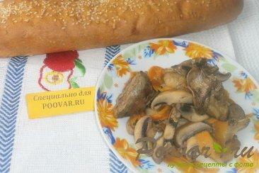 Рагу из куриной печени и грибов Шаг 13 (картинка)