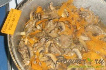Рагу из куриной печени и грибов Шаг 11 (картинка)
