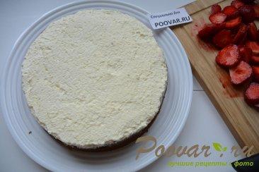 Бананово-клубничный торт со сливками Шаг 14 (картинка)