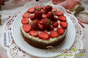 Бананово-клубничный торт со сливками Шаг 17 (картинка)